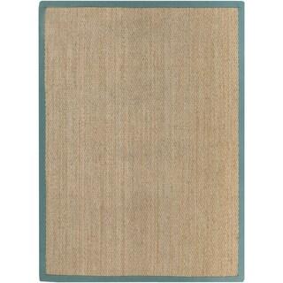 Hand-Woven Erskine Border Seagrass Rug (8' x 10')