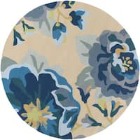 Hand-Hooked Deon Floral Area Rug (8' Roun