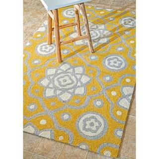 nuLOOM Handmade Modern Indoor/ Outdoor Abstract Yellow Rug (5' x 8')