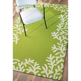 nuLOOM Handmade Modern Solid Green Rug (5' x 8')