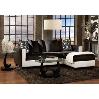 2-piece Bicast/ Corduroy Reversible Sectional