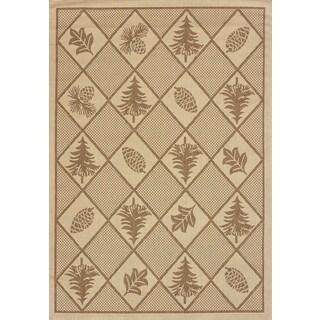 Terrace Lodge-look Renee Pine Indoor/ Outdoor Area Rug (7'6 x 10'6)