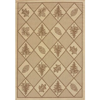 Terrace Lodge-look Renee Pine Indoor/ Outdoor Area Rug (7'6 x 10'6)