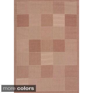 Flat-weave Terrace Abbey Indoor/Outdoor Area Rug (7'10 x 10'6)
