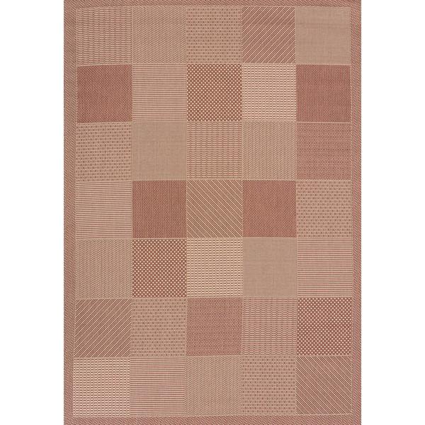 Flat-weave Terrace Abbey Indoor/Outdoor Area Rug (7'10 x 10'6) - 7'10 x 10'6