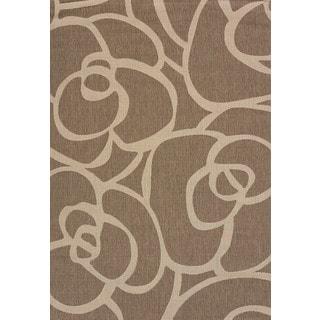 Flat-weave Terrace Cecilia Brown Indoor/Outdoor Area Rug (7'10 x 10'6)