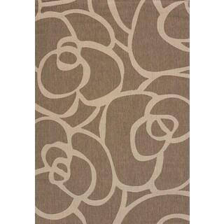 Flat-weave Terrace Cecilia Brown Indoor/Outdoor Area Rug (7'10 x 10'6)