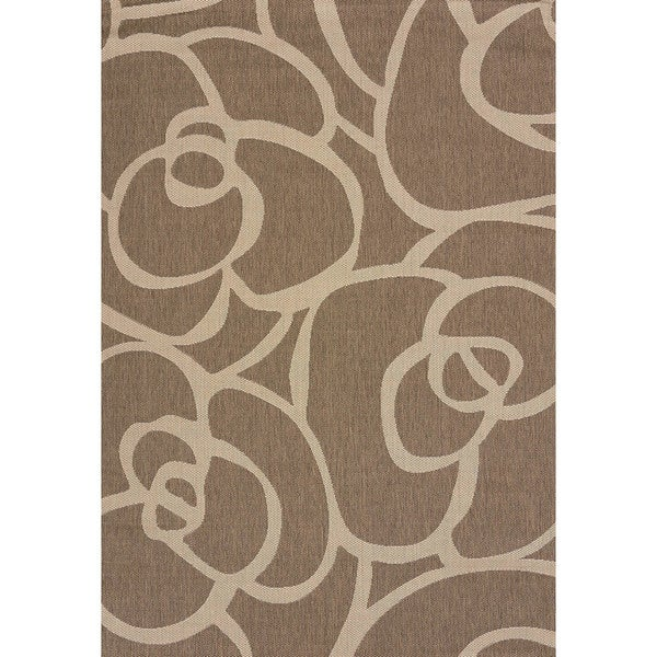 Terrace Cecilia Brown Indoor/Outdoor Area Rug - 5'3 x 7'6
