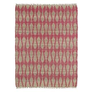 Handmade Natural Fiber Cayon Pink Rug - 2' x 3'