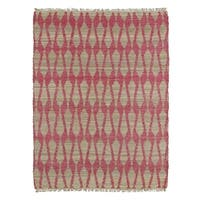 Handmade Natural Fiber Canyon Pink Rug (8'0 x 11'0)