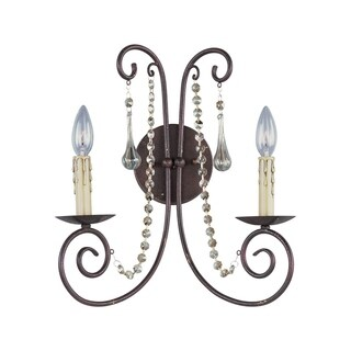 Maxim Adriana 2-light Metal Wall Sconce