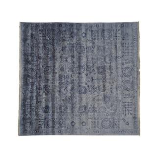 Handmade Square Tabriz Wool and Silk Oriental Rug (7'9 x 8'1)