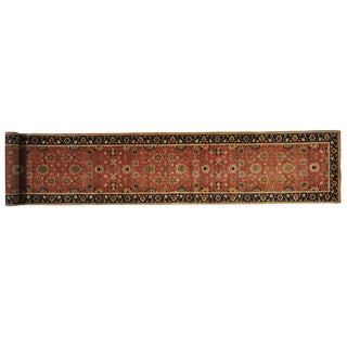 Handmade Antiqued Heriz Recreation XL Runner Oriental Rug  (2'7 x 16')