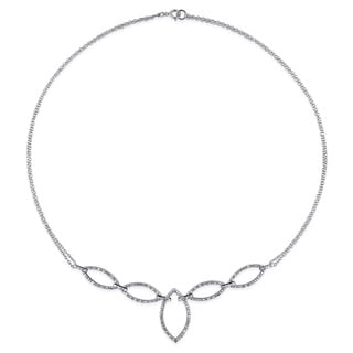 Miadora Sterling Silver 1/2ct TDW Diamond Necklace