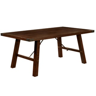 Furniture of America Montelle Dark Oak Dining Table
