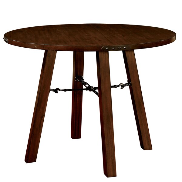 Furniture Of America Montelle Dark Oak Round Counter Height Dining Table