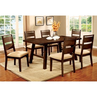Furniture of America Montelle 7-piece Dark Oak Dining Set