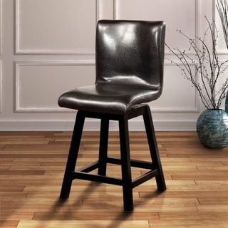 Furniture of America Karille Modern Black 24.75-inch Counter Height Chair (Set of 2)