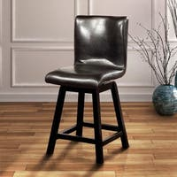 Karille Traditional Black Counter Height Chair (Set of 2) by FOA