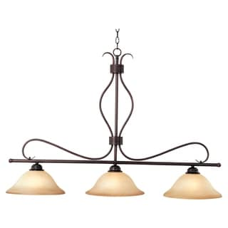 Maxim Basix Chrome Iron 3-light Island Pendant