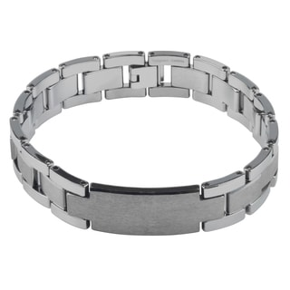 Vance Co. Tungsten Men's Link ID Bracelet
