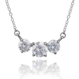 Journee Collection Sterling Silver Cubic Zirconia Pendant