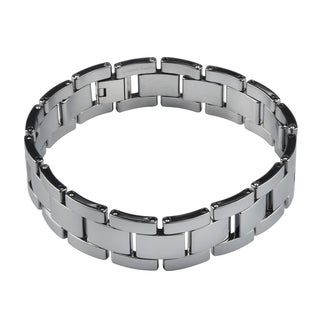 Vance Co. Tungsten Men's Link Bracelet