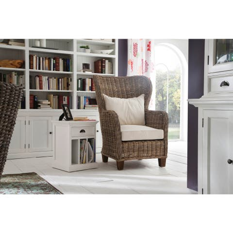 The Curated Nomad Placer Wingback Woven Cushioned Chair - 25,98 x 26,77 x 47,64 - 25,98 x 26,77 x 47,64