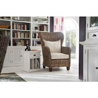 Havenside Home North Bend Wingback Woven Cushioned Chair