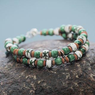 Handmade Ceramic 'Lachay' Bracelet (Peru)