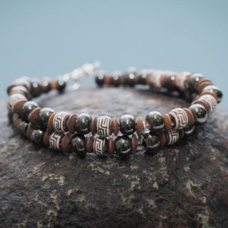 Handcrafted Ceramic 'Huaylas' Bracelet (Peru)