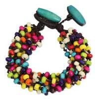 Handcrafted Littleleaf Boxwood 'Trang Belle' Bracelet (Thailand)