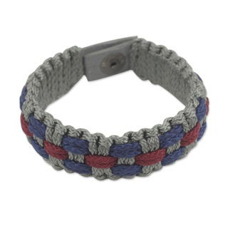 Handcrafted Men's Recycled Paper 'Love and Honor' Bracelet (Ghana)