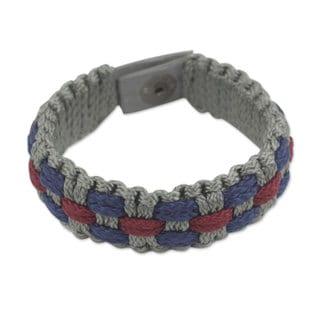 Handmade Men's Recycled Paper 'Love and Honor' Bracelet (Ghana)