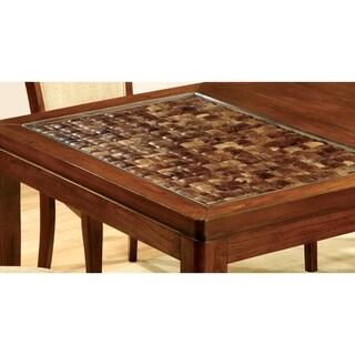 Furniture of America Darlene Dark Oak 78-inch Dining Table