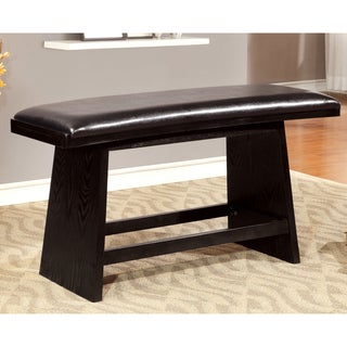 Furniture of America Karille Modern Black Counter Height Dining Bench