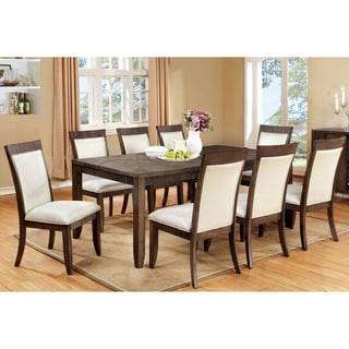 Furniture of America Mariselle 9-Piece Urban Grey Dining Set