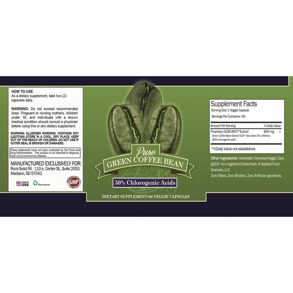 Shop Green Coffee Bean Extract Supplement 60 Day Bottle 120
