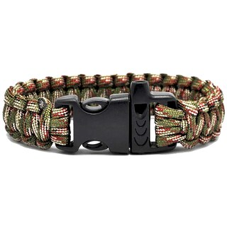 TrailWorthy Camouflage Paracord Bracelet with Whistle (Case of 250)