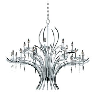 Paris Collection Lumenno International Transitional 24-light Chrome Plated Chandelier