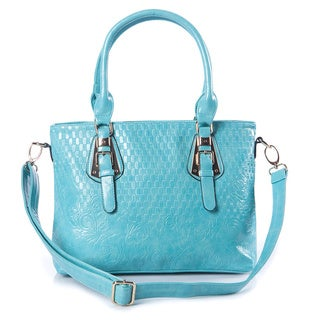 Quilted Faux Leather Tote Handbag