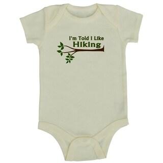 Rocket Bug 'I'm Told I Like Hiking' Cotton Baby Bodysuit (4 options available)