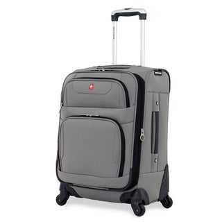 SwissGear 20-inch Carry On Spinner Upright Pewter Suitcase