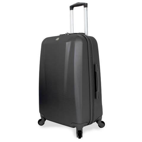 SwissGear 24-inch Medium Hardside Spinner Upright Black Suitcase