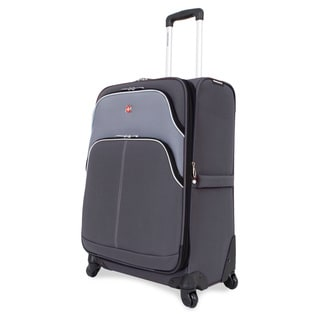 SwissGear 24.5-inch Medium Spinner Upright Grey/ Silver Suitcase