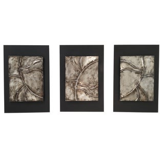 Uttermost Silver Leaves Decorative Wall Plaques Set Of 2