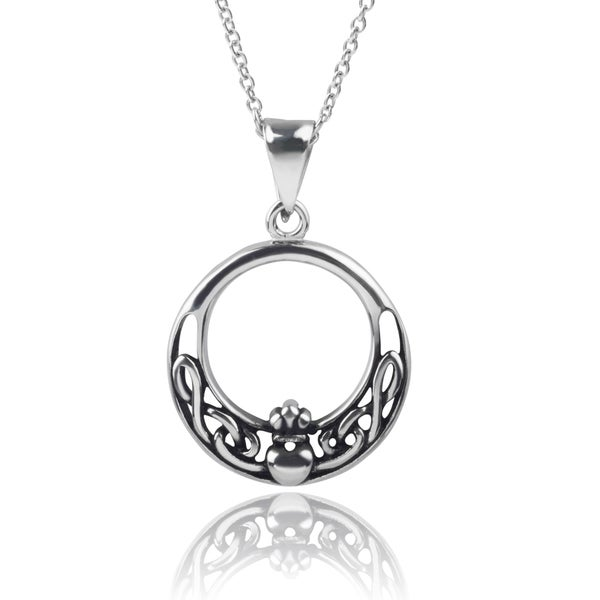 Journee Collection Stainless Steel Celtic Necklace