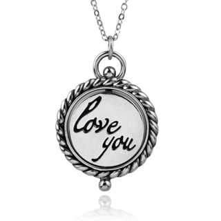 Journee Collection Sterling Silver 'Always Love You' Pendant