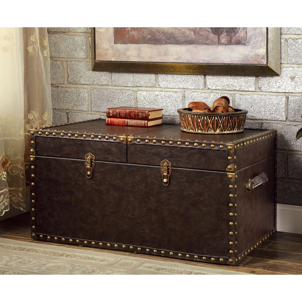 Furniture Of America Tannell Antique Brown Leatherette