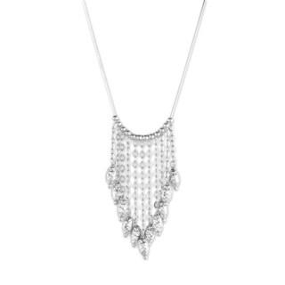 La Preciosa Sterling Silver Beaded Fringe Necklace